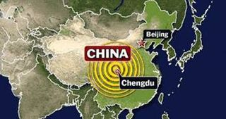 Chinese Earthquake at Chengdu in the Sichuan Province