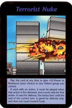 1995 Tarot Card Terrorist Nuke Twin Towers