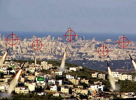 Rockets aimed at Tel Aviv