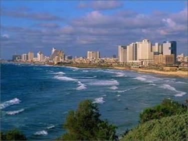 Mediterranean Seacoast at Tel Aviv Israel