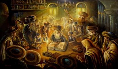 Sages of Judah teaching Wisdom of the Torah