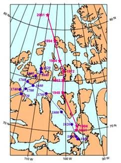 Magnetic Pole heading to Siberia