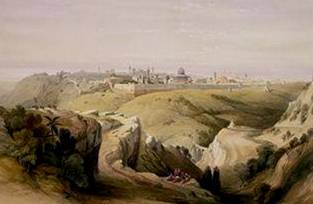 """Jerusalem from the Road leading to Bethany"""