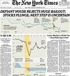 NY Times - Stock Market Crash 2008