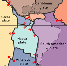 Tectonic Plates Surrounding South America