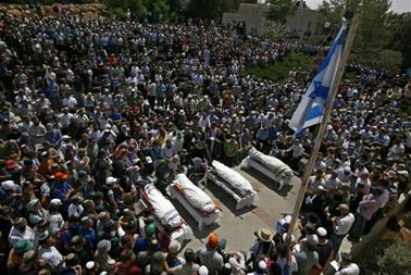 Funeral 4 Settlers Beit Chaggai