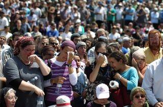 Mourners 4 Jewish Settlers Kiryat Arba