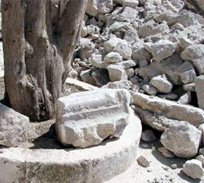 Carved Stones of Jewish Temples in Islamic Waqf bulldozer destruction on Temple Mount