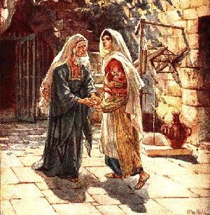 Elizabeth celebrating Miriam's Pregnancy