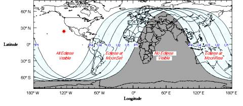Pathway of the 2010 Total Lunar Eclipse