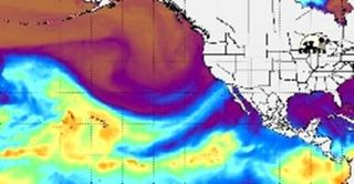 Atmospheric River into Southern California