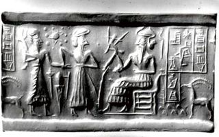 Cylinder Seal VA-243 in the Berlin Near Eastern Museum