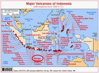 Volcano studded Island Nation of Indonesia