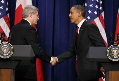 Obama Harper America Canada Superstate