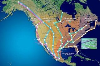 The Four Corridors of the North American Union