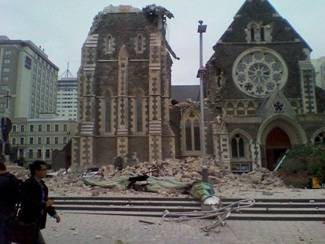 Earthquake Christchurch Cathedral