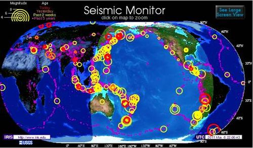 Seismic Monitor March 6, 2011