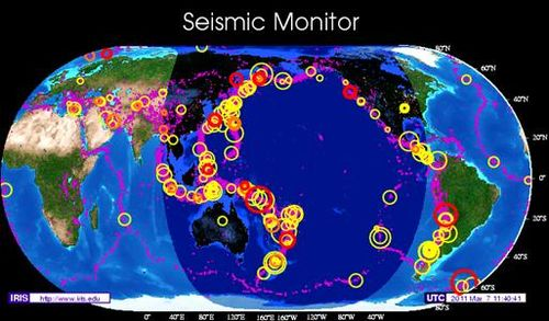 Seismic Monitor March 7, 2011