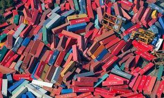 Cargo containers Sendai Port