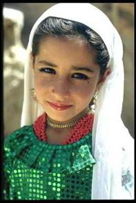 Young Pashtun Girl of the Tribes of Israel