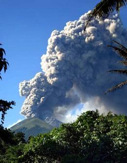 Mount Merapi Volcanic Eruption in Indonesia