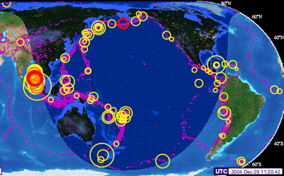 2004 Indian Tsunami, Ring of Fire Earthquakes