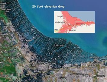 Twenty Foot Submersion on the Java Coastline