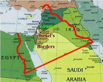 Egypt and Assyria included as part of Greater Israel