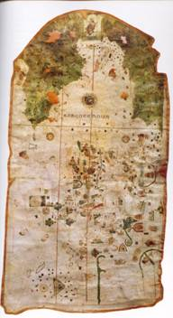 Map of the New World by the Cartographer Juan de la Cosa