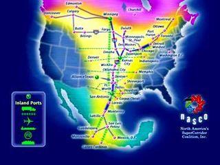 North American SuperCorridor Coalition Map