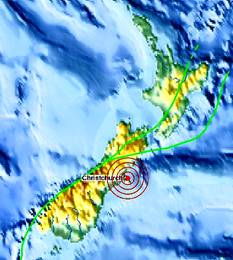 Fault Line of the (KTT) Kermdee Tonga Trench