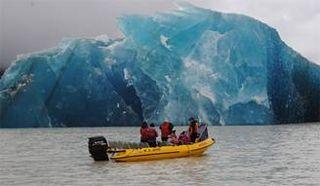 Earthquake born icebergs New Zealand