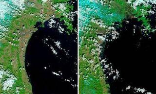 NASA Terra Satellite Images Japans Tsunami