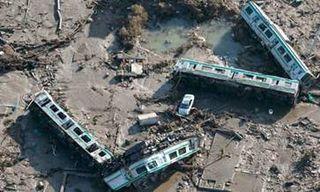 Overturned Train Shinchi town Japan