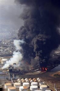 Burning Building Port Sendai