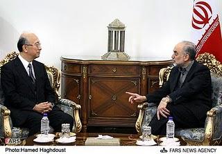 Japan's Bessho Koro meets Iran's Ali Akbar Salehi