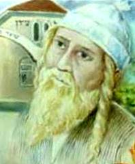 Drawing of Rabbi Nachman of Breslav by Avraham Chaim Biton