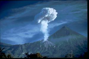 Volcano Santa Maria in Guatemala