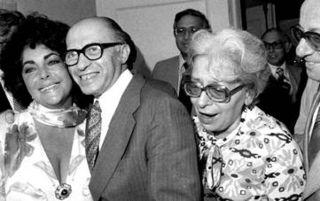 Elizabeth Taylor and Israeli Prime Minister Menachem Begin in 1983