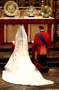 Prince William and Catherine at Altar