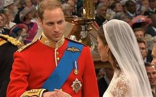 Prince William complimenting Kate Middleton