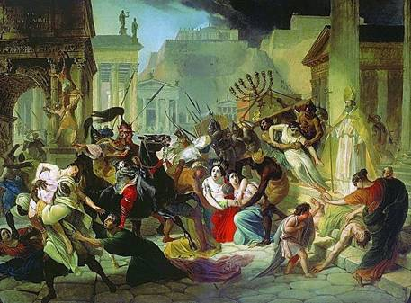 Rome sacked and looted by the Vandals