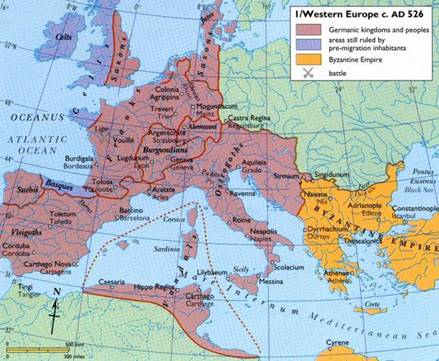 Germanic Kingdoms of the Ostrogoths, Visigoths & Vandals