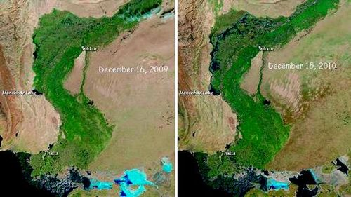 NASA Earth Observatory Pakistan's 2010 Flooding