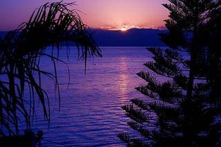 Sunset over Lake Kinneret