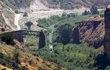 Old Railroad Bridge blown up Yarmuk River