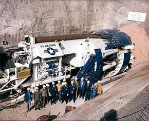 Air Force tunnel boring machine