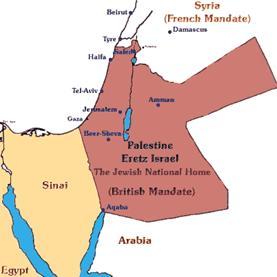 British Mandate - Jewish National Homeland