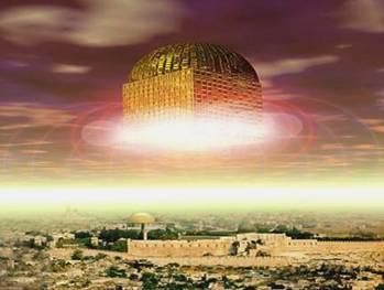 Throne of G-d New Jerusalem over Mount Moriah
