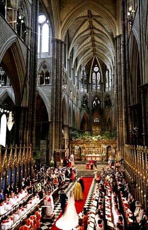 Wedding Prince William Kate Westminster Abbey